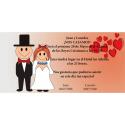 Invitacion de boda novios corazones