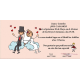 Invitacion de boda novios nubes