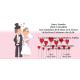 Invitacion de boda novios brindis