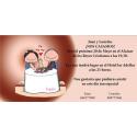 Invitacion de boda novios brindando