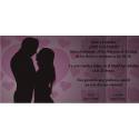 Invitacion de boda sombra novios