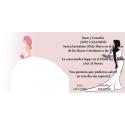 Invitacion de boda vestido novia