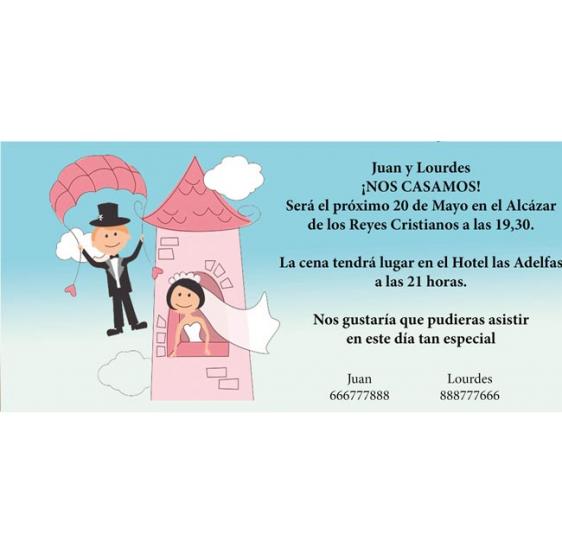 Invitacion de boda novia romeo y julieta