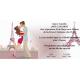 Invitacion de boda novios en torre eiffel
