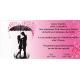 Invitación original de boda novios paraguas