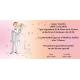 Invitación original de boda novios beso
