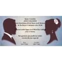Invitación de boda silueta novios
