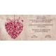 Invitación de boda corazón original
