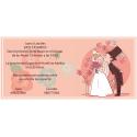 Invitación de boda novios besandose