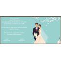Invitación barata de boda y original