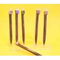 Bolígrafos madera mariposas surtido en caja acetato (precio unidad)