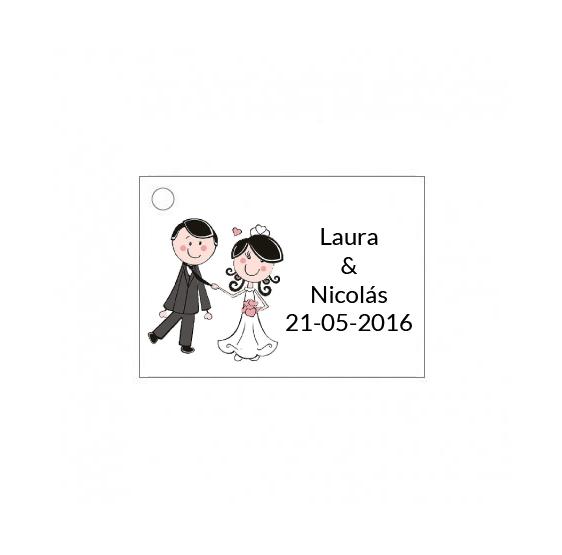 Tarjetita de boda de novios original
