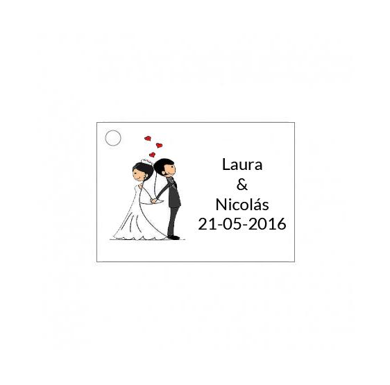 Tarjetita de boda novios original bajo precio