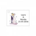 Tarjetita para adornar detalles de boda