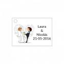 Tarjeta de boda para adornar detalles de boda
