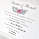 Invitacion de boda en sobre con iniciales