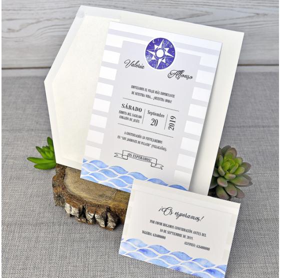 Invitacion de boda barata y original