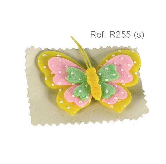 Broche fieltro Mariposa colores surtidos