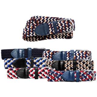 Cinturón de tela elástico, surtido en 6 motivos diferentes