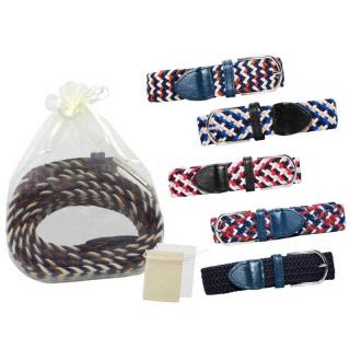 Cinturón de tela elástico y bolsa de tul