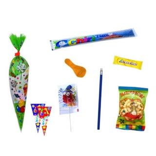 Divertida bolsa con golosinas y juegos para niños