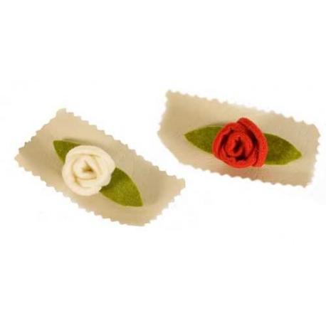 Broche fieltro Rosas