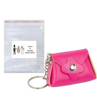 Pack llavero bolso en bolsa con tarjeta