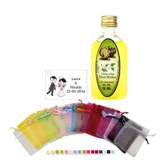 Pack detalle boda licor