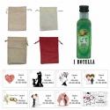 Licor Hierbas en una bolsa de saco y tarjeta