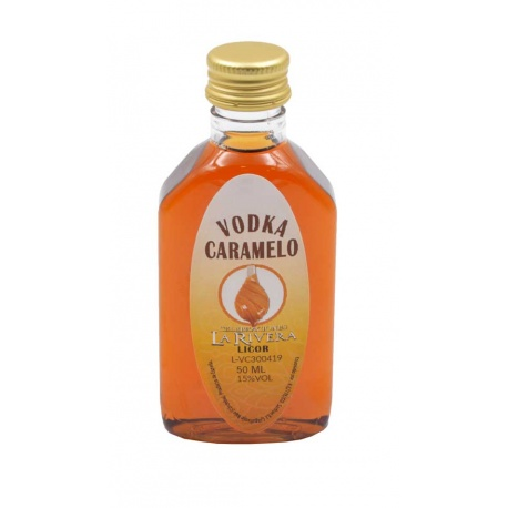Licor para boda de vodka caramelo 50ml