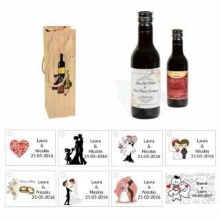 Tinto regalos boda personalizado con caja original y tarjeta
