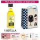 "Botellita de Aceite de Oliva Virgen Extra con bolsa ""charlestón"" y tarjeta"