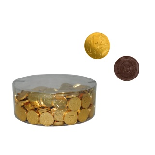 MONEDAS DE CHOCOLATE PEQ. ORO (300 Unds.)