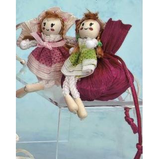 Broche muñeca con jabon de rosa