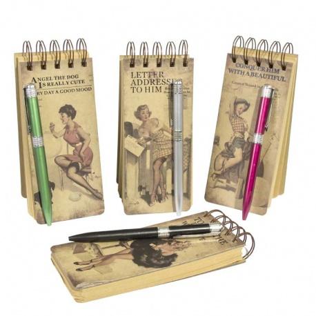 Libreta vintage con bolígrafo regalos boda
