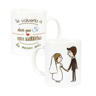 Tazas personalizadas regalos de boda