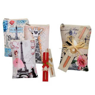 bolso multiusos con cremallera dibujos-ciudades + lapiz d. (8548)