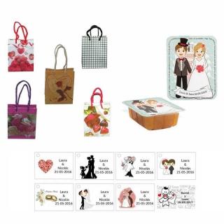dulce membrillo 125gr boda con bolsa de saco y tarjeta