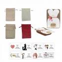 dulce membrillo 50gr detalles novia con bolsa de asas y tarjeta