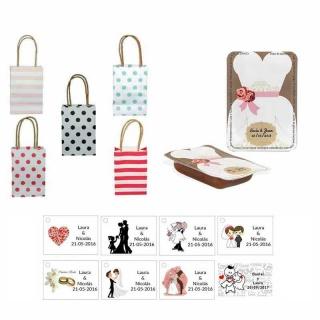 dulce membrillo 50gr detalles novia con bolsas originales y tarjeta