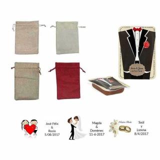 dulce membrillo 50gr detalles novio con bolsa de asas y tarjeta
