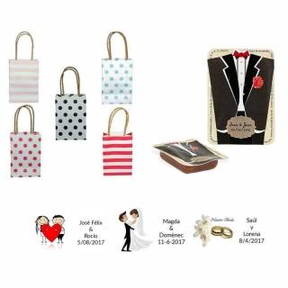 dulce membrillo 50gr detalles novio con bolsas originales y tarjeta