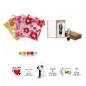 Estuche tapón de vino en bolsa y tarjeta personalizada regalos boda