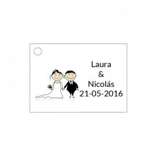 Tarjetita de boda original de novios