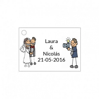 Tarjetita de boda novios foto