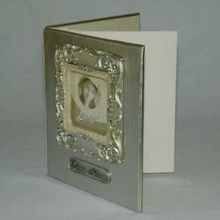 Libro de firmas con marco para foto portada
