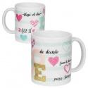 Taza personalizada, para regalo de invitados de boda