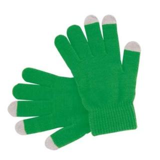 guantes verdes para iphone y ipad