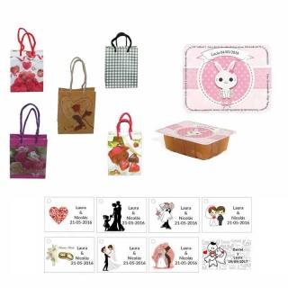 dulce membrillo 125gr niña bebe con bolsa de saco y tarjeta