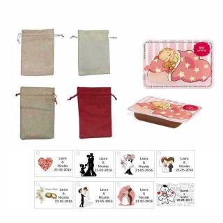 dulce membrillo 50gr detalles bebé con bolsa de asas y tarjeta